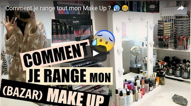 Vid o organiser son maquillage comment ranger for Bien ranger son bureau
