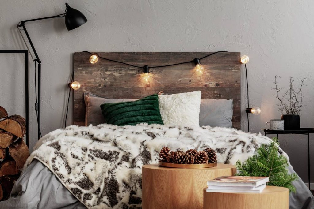 Chambre cocooning en hiver